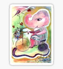 Tricycle Ganesha Sticker