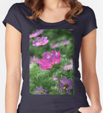 Cosmos Flower 7142 T shirt Women's Fitted Scoop T-Shirt
