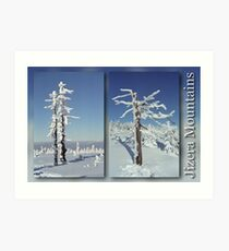 A diamond-dust day at the Smrk mountain (diptych) Art Print
