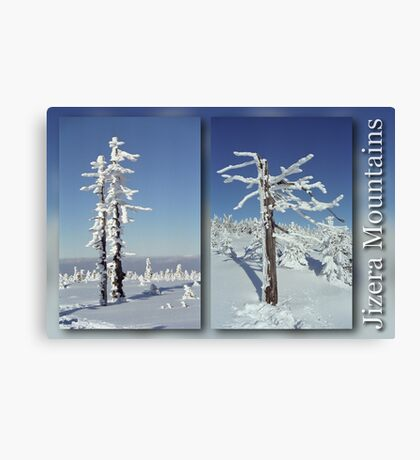 A diamond-dust day at the Smrk mountain (diptych) Canvas Print