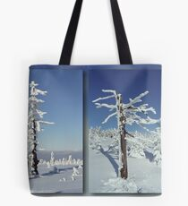 A diamond-dust day at the Smrk mountain (diptych) Tote Bag