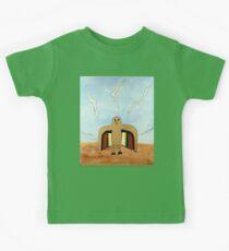 Dancing Robot Bird T Shirt Kids Tee