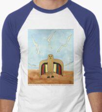 Dancing Robot Bird T Shirt Men's Baseball ¾ T-Shirt