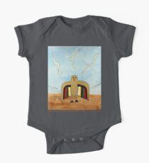 Dancing Robot Bird T Shirt One Piece - Short Sleeve