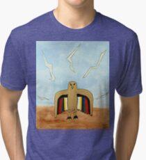Dancing Robot Bird T Shirt Tri-blend T-Shirt