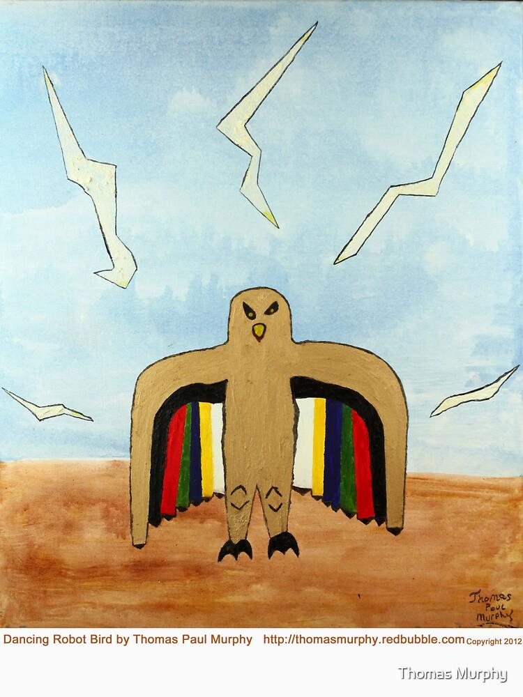 Dancing Robot Bird T Shirt by ThomasMurphy