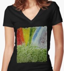 Laurel Genesis Rainbow Women's Fitted V-Neck T-Shirt