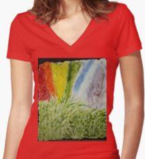 Laurel Genesis Rainbow Women's Fitted V-Neck T-Shirt
