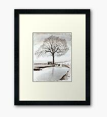 TRANQUIL BEAUTY - AQUAREL  Framed Print