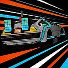 Delorean Time Flux - Orange by David Wildish
