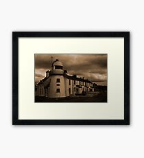 Paull Lighthouse in Sepia Framed Print