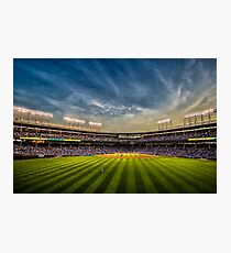 New Wrigley Field View at dusk  Photographic Print