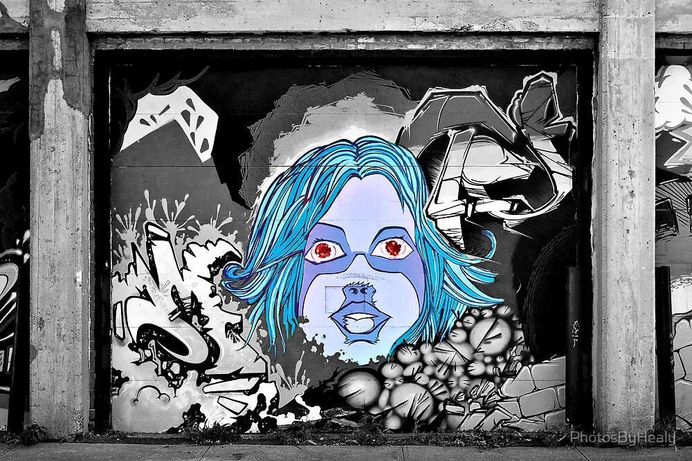 The Girl in the Mural - selective colour by PhotosByHealy