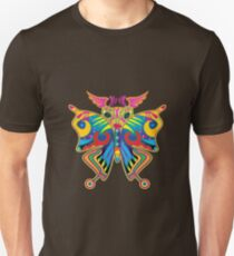 Colorful Butterfly Slim Fit T-Shirt