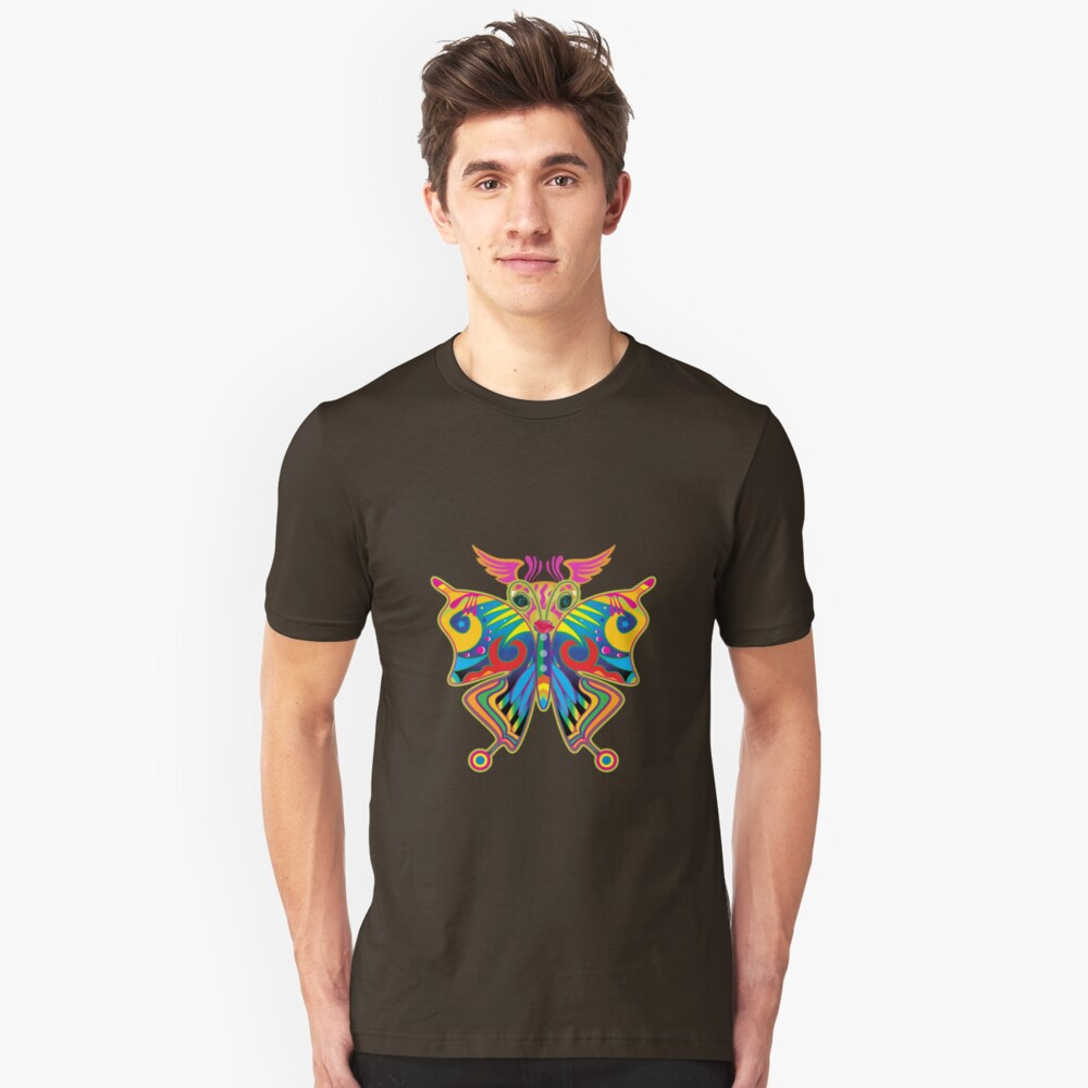 Colorful Butterfly Unisex T-Shirt Front