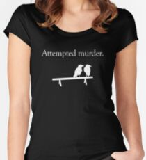 Attempted Murder (White design) Women's Fitted Scoop T-Shirt