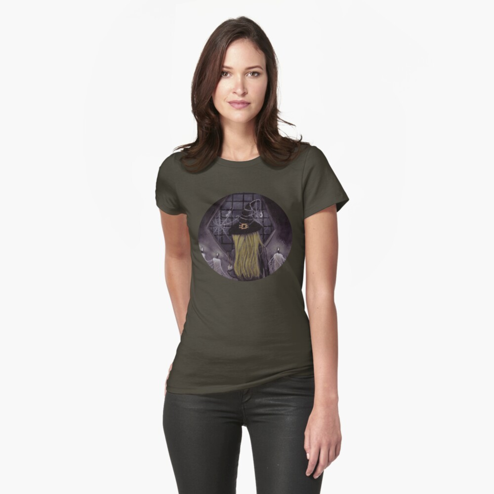 Witches Waiting... Womens T-Shirt Front