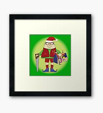 Will Work For Milk and Cookies Elf Framed Print