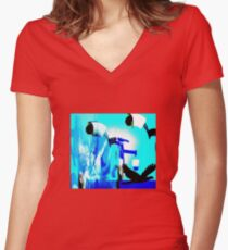Fly With me Women's Fitted V-Neck T-Shirt