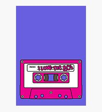 I love the 80's - pink tape Photographic Print
