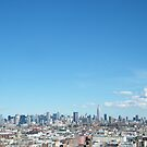 Rooftop View of Hoboken, Manhattan Skyline View, As Seen from Jersey City Heights, New Jersey  by lenspiro
