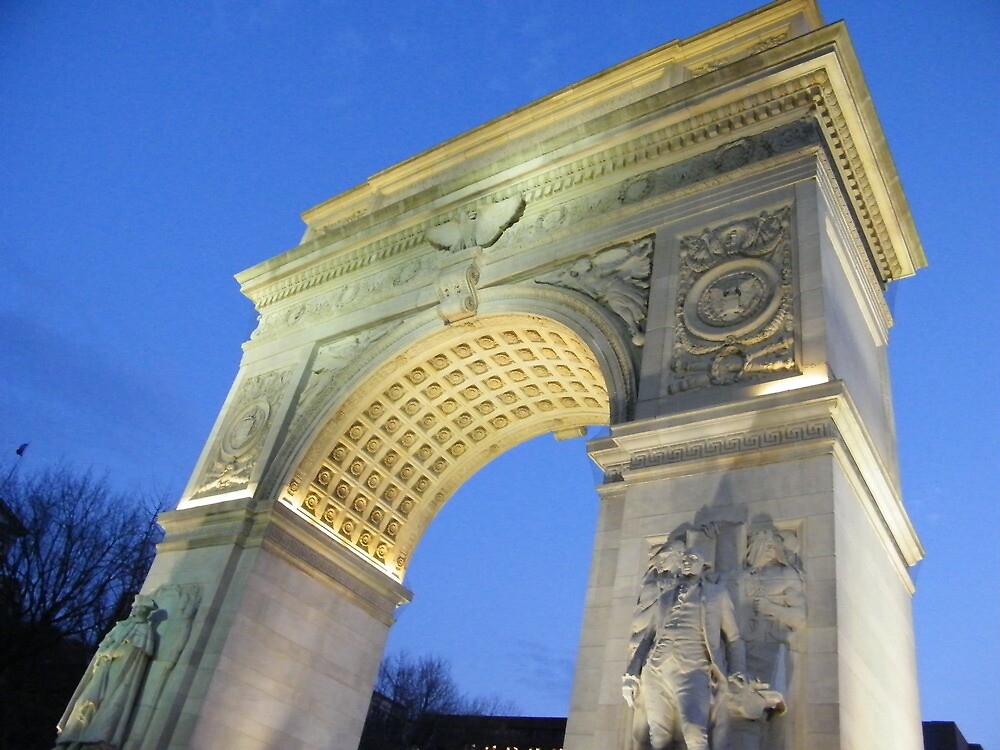 Washington Square Arch at Dusk, New York by lenspiro