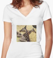 Nature-friends Women's Fitted V-Neck T-Shirt