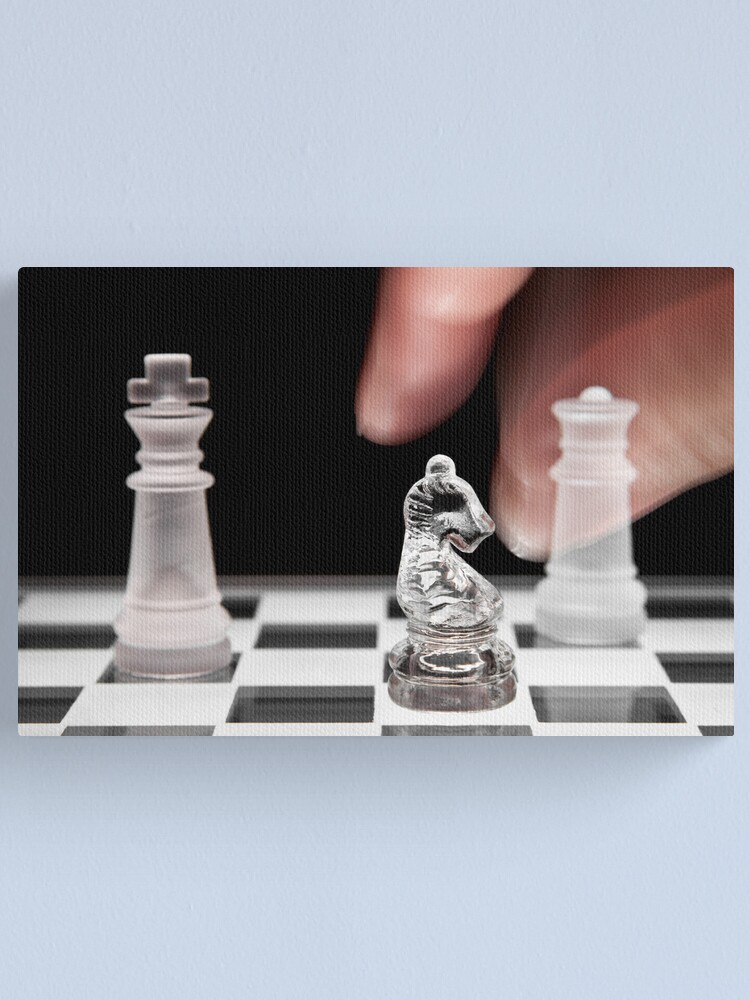 Alternate view of Chess 101: The knight moves to put the king in check Canvas Print