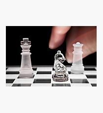 Chess 101: The knight moves to put the king in check Photographic Print