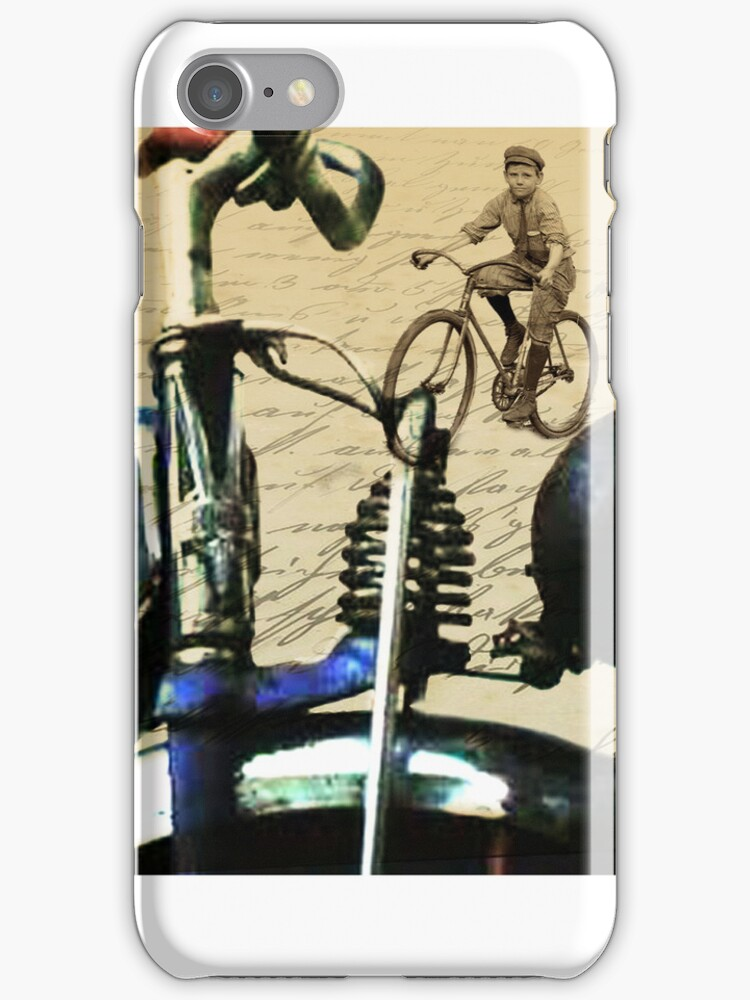digital RETRO CYCLING print with calligraphy by SFDesignstudio