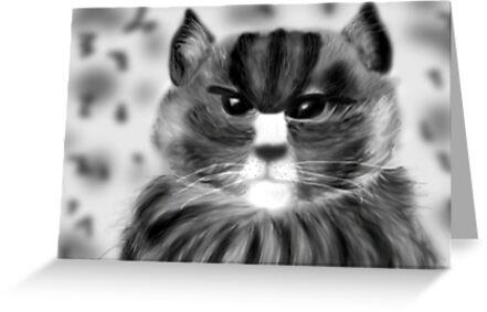 Angry Cat.... by nishagandhi