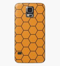 Honeycomb - Orange Case/Skin for Samsung Galaxy