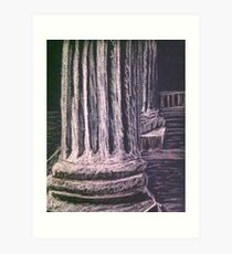 Grecian Columns Art Print