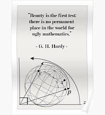 Science Art Math Quote Poster