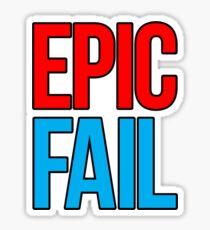 Epic Fail (red/sky blue) Sticker