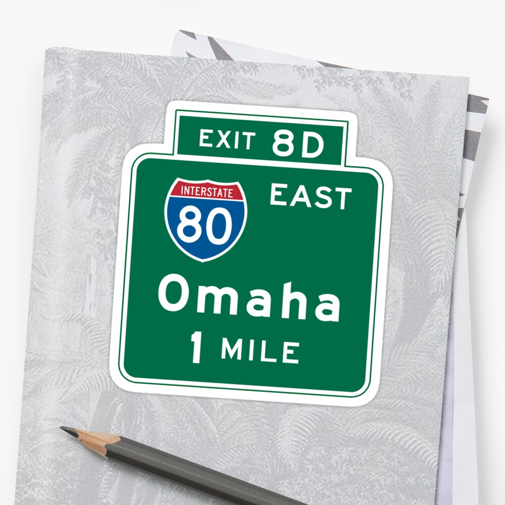 Omaha, NE Road Sign, USA by worldofsigns