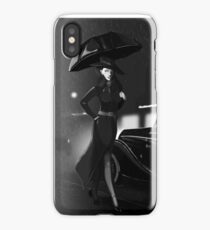 Rarity investigate pin-up black and white  iPhone Case