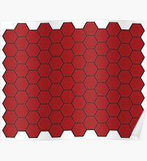 Honeycomb - Red Poster