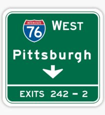 Pittsburgh, PA Road Sign, USA Sticker