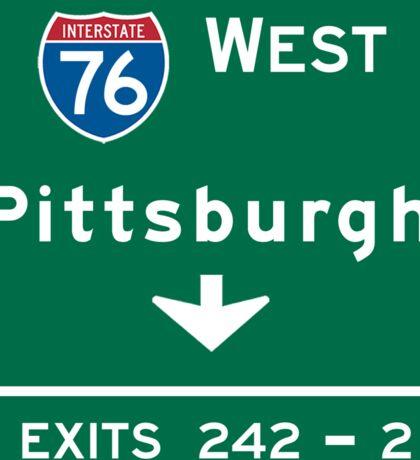 Pittsburgh, PA Road Sign, USA Sticker