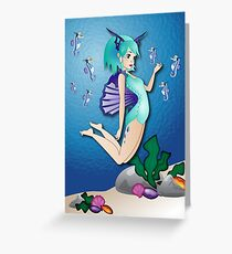 Twisted - Wild Tales: Nereida and the seahorse Greeting Card