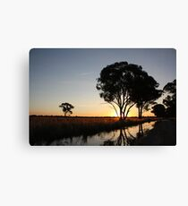 The Day Ends Here. Canvas Print