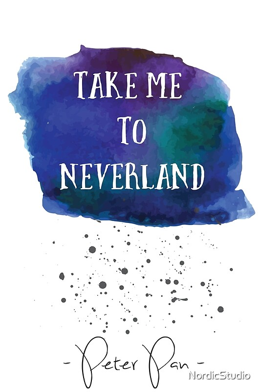 """Peter Pan, Take me to Neverland "" Canvas Prints by ..."