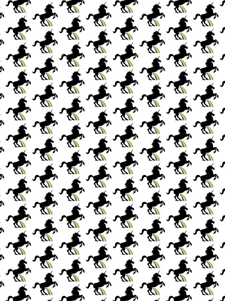 Einhorn Rainbow Pee (schwarzes Design) von jezkemp