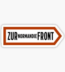 To Normandy Front, WWII Sign, France Sticker