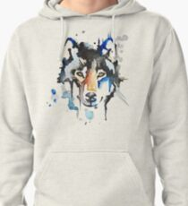 Watercolour Wolf Pullover Hoodie