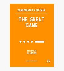 BBC Sherlock - The Great Game Minimalist Photographic Print