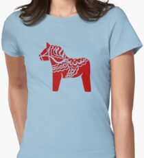 dalahast dala horse toy sweden Womens Fitted T-Shirt