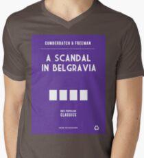 BBC Sherlock - A Scandal in Belgravia Minimalist Mens V-Neck T-Shirt