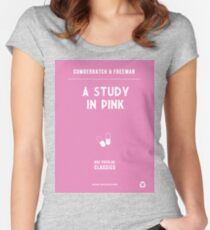 BBC Sherlock - A Study in Pink Minimalist Women's Fitted Scoop T-Shirt